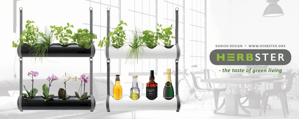 herbster tube planters on new york background